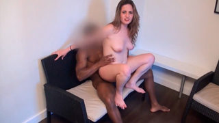Interracial BBC Smashes a Teen Amateur Girl in The Couch